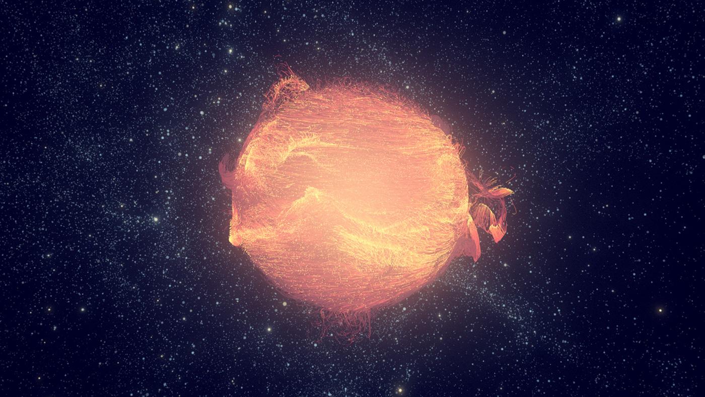 Ocean cinema4d x-particles stars Space