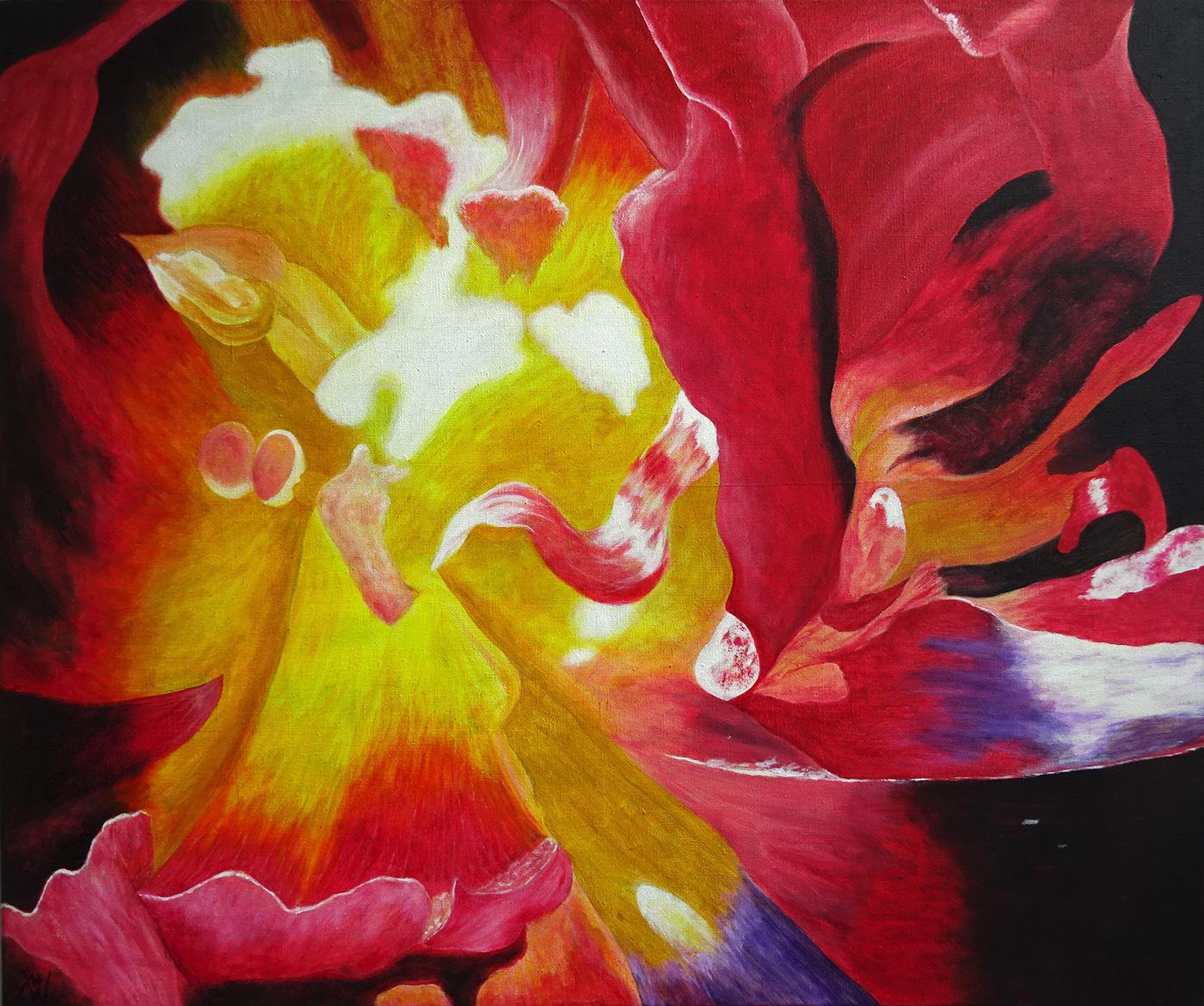 acrylic painting Flowers flower art flower paintings mike wasser michael wasser wasser
