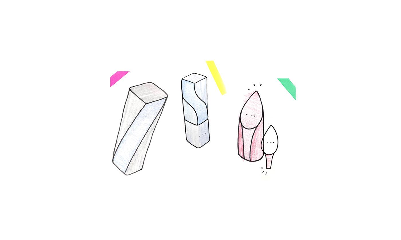 hince lipstick MAEKUP product productdesign Packaging packagedesgin industrialdesign DesignConcept