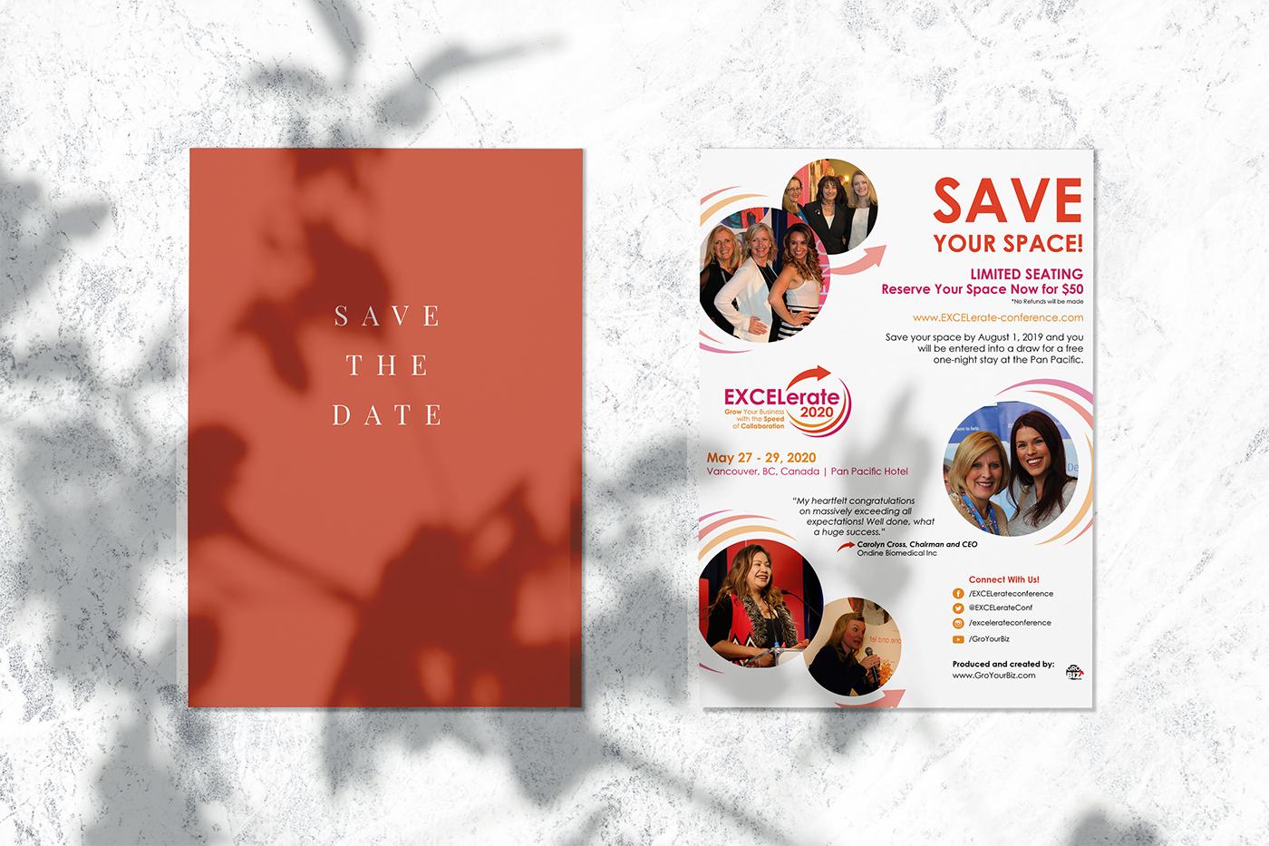 postcard graphic design  modern red Monika Szucs feifei digital ltd orange Invitation vancouver agency
