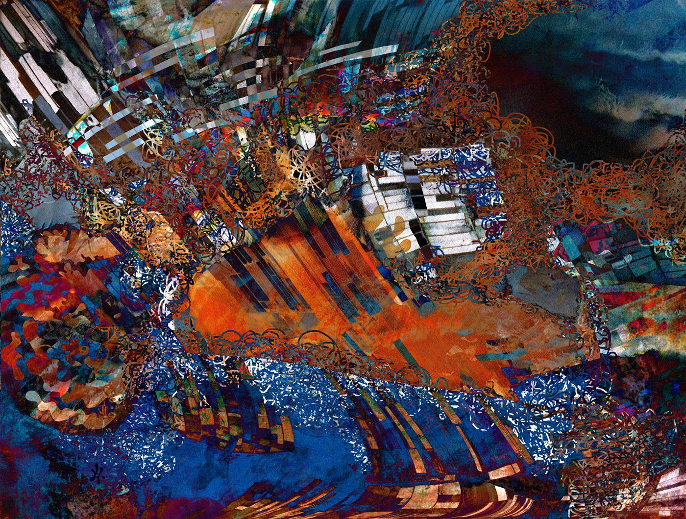 abstrait composition couleurs montage photo Photographie pixels numérique