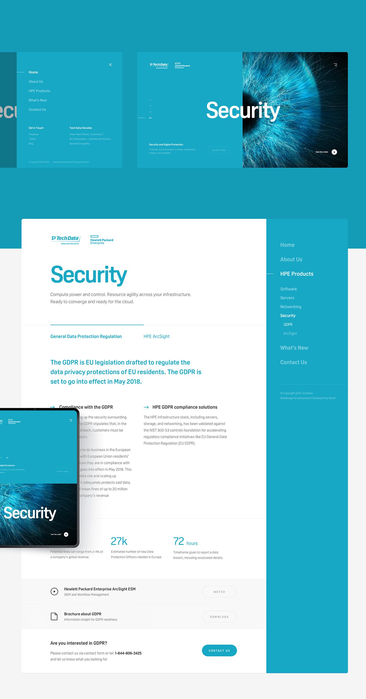 Webdesign UI ux Web Website landing Technology server software network
