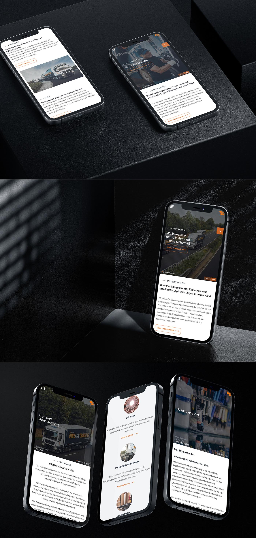 logistic Transport Webdesign Website