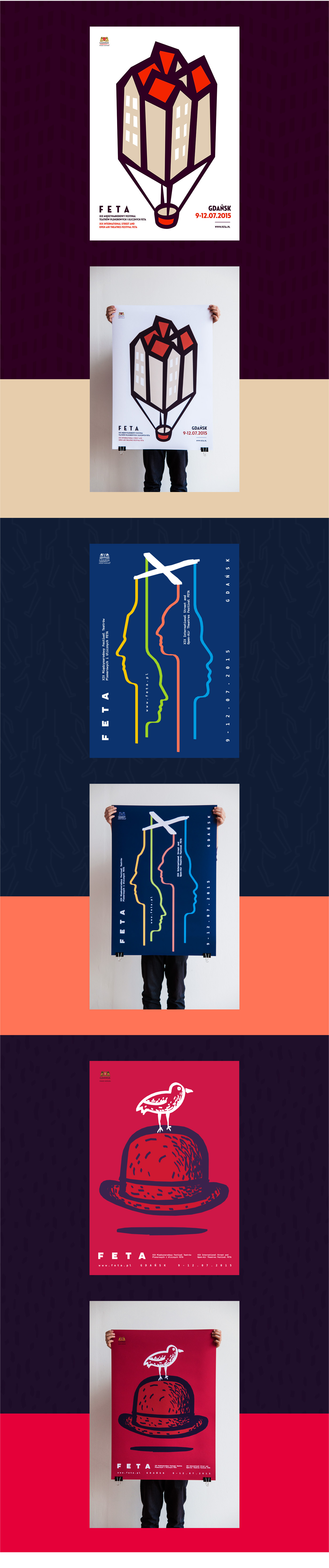 feta posters plakaty poster ILUSTRACJE Theatre Biennale plakat polish teatr art