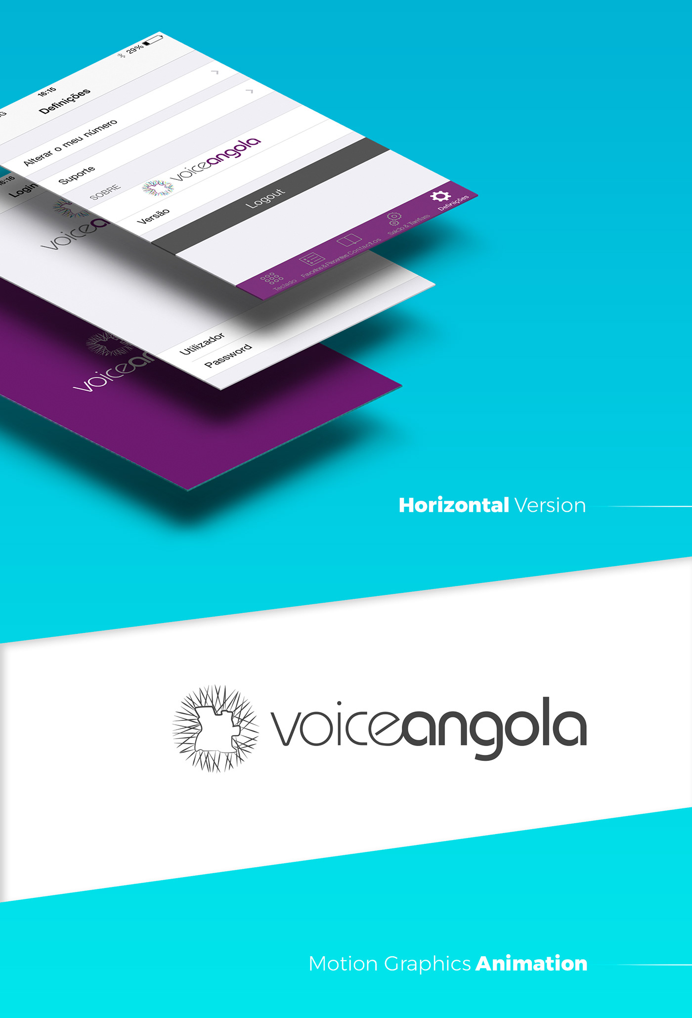 Logo Design copy logo app Voice Angola logo ios VoIP Travel Flights Icon