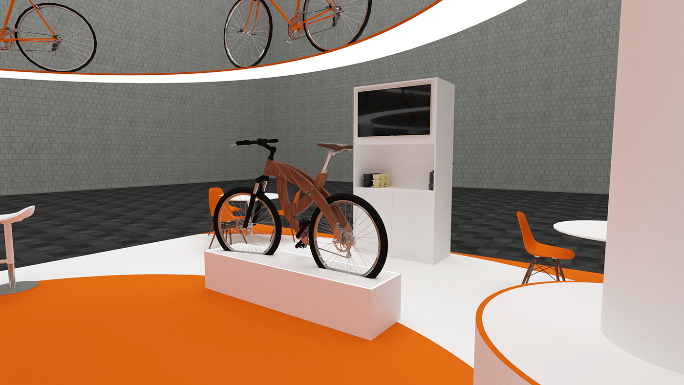 Image may contain: bicycle, bicycle wheel and orange