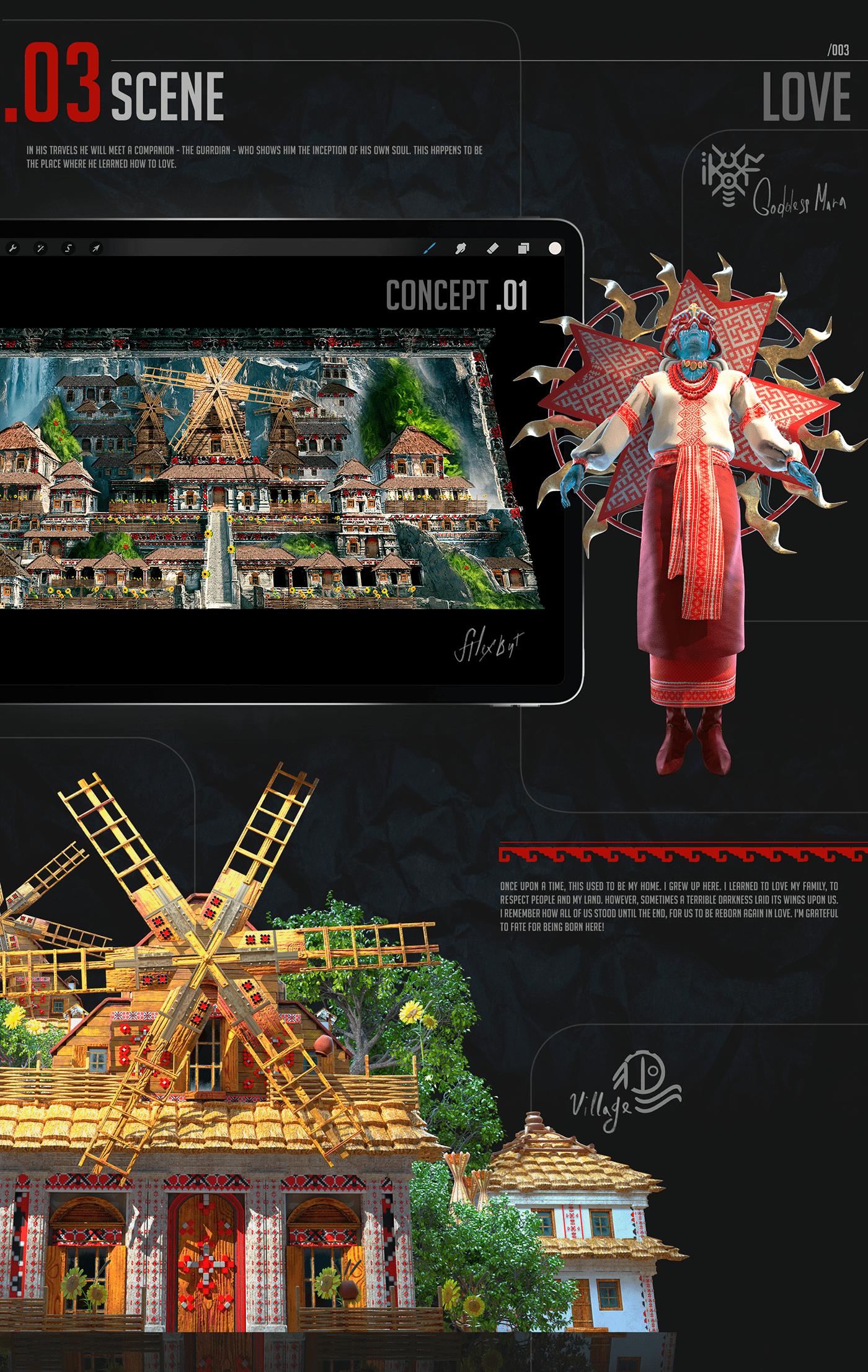 3d Mapping story Ethnic ukraine Show CG vfx projection art design