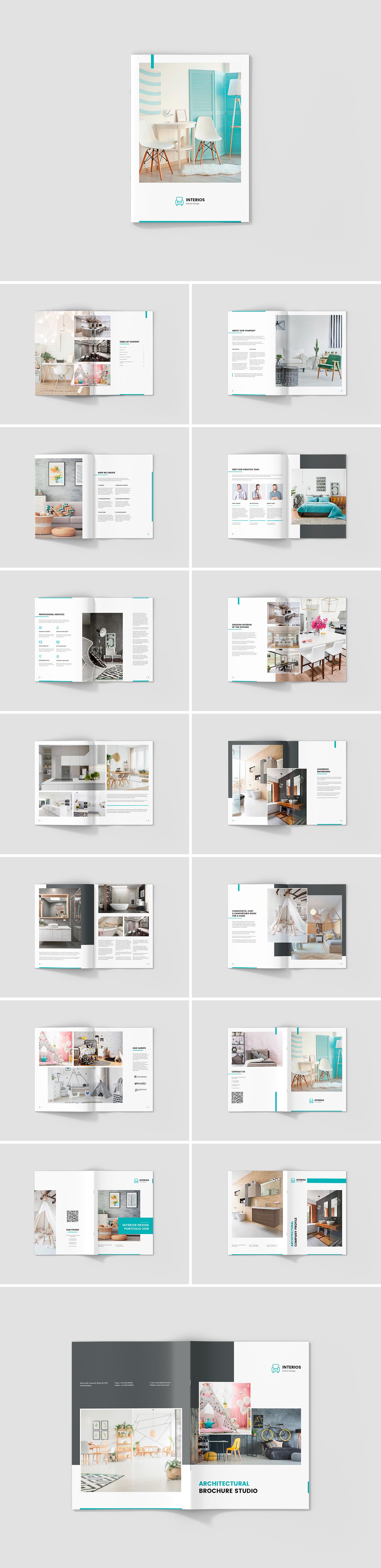 Interios Interior Design Brochures Print Templates On Behance