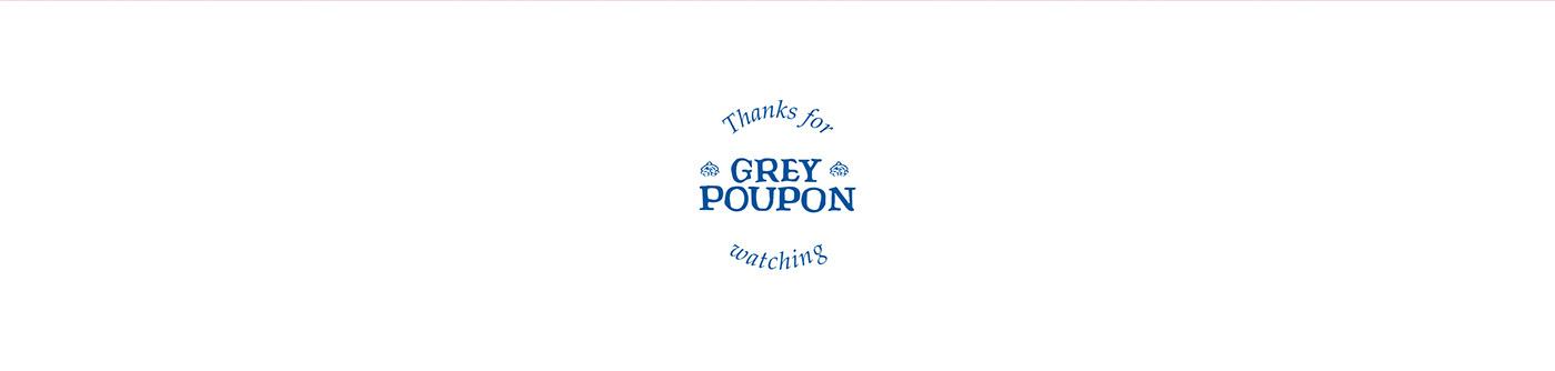 art direction  branding  Grey Poupon