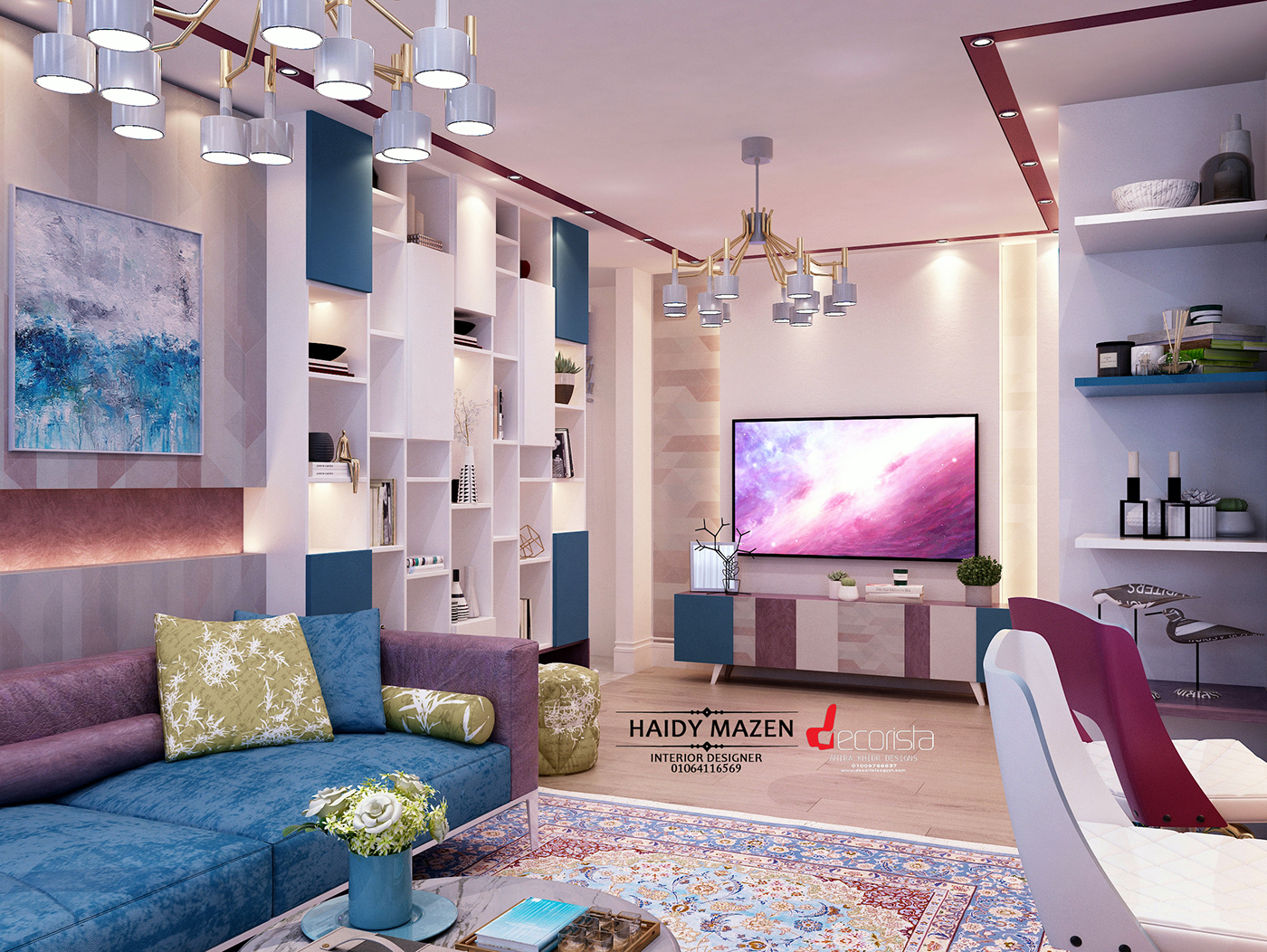 living room - kitchen on Behance