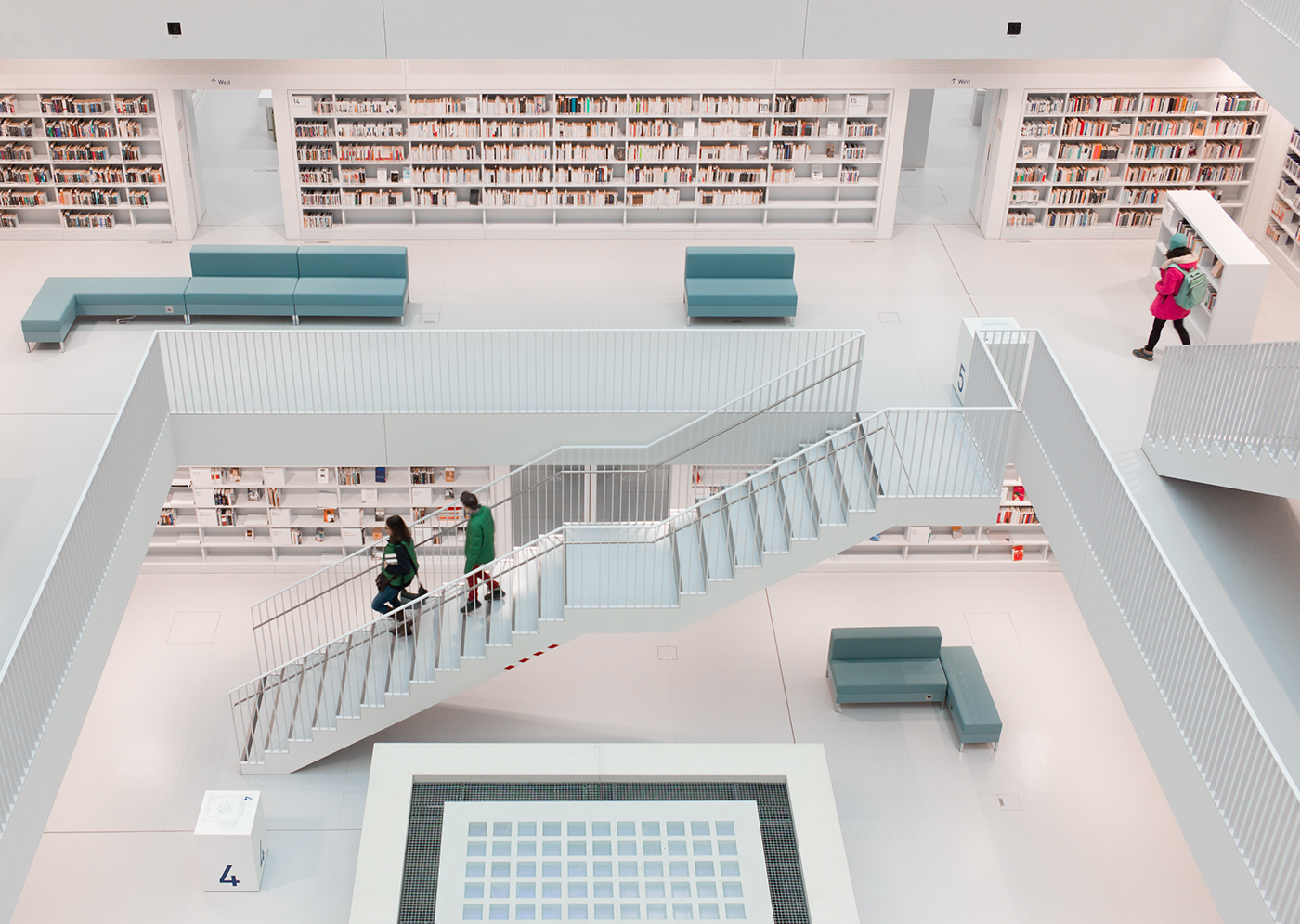 stuttgart library books architecture modern atmosphere germany city library  doelz Yi Architects