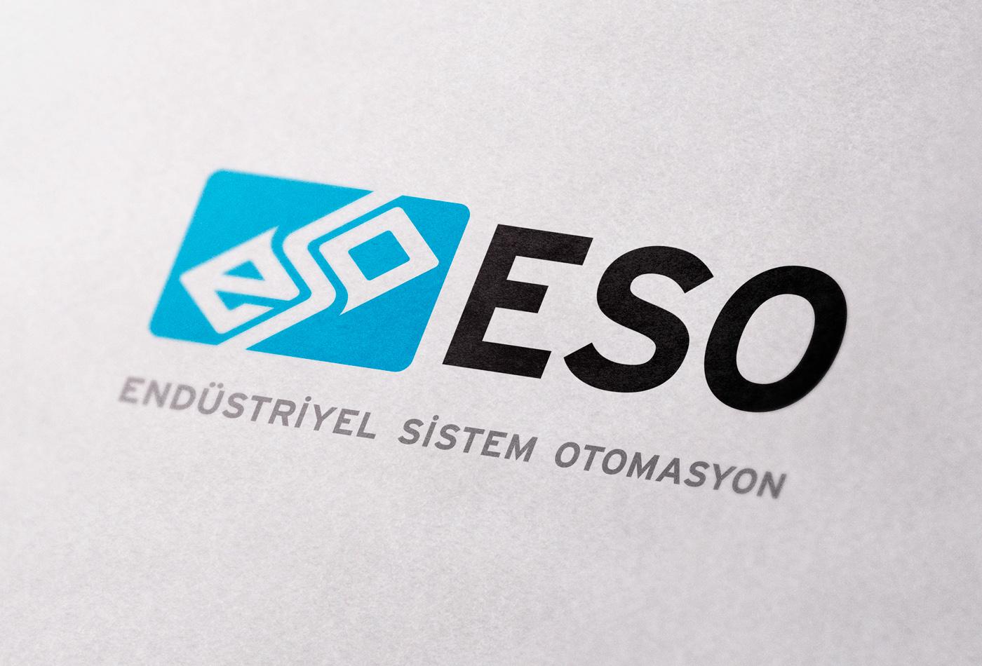 amblem endüstriyel eso font irsaliye kartvizit kimlik kurumsal logo tasarım