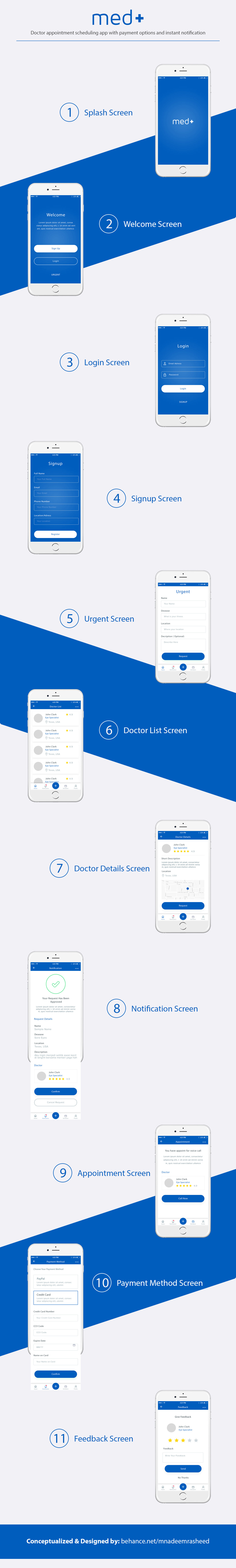 doctor app doctor appointment app Doctor Scheduling App app design iOS App App MockUp Design mobile app design mobile app mockup Doctor App Mockup