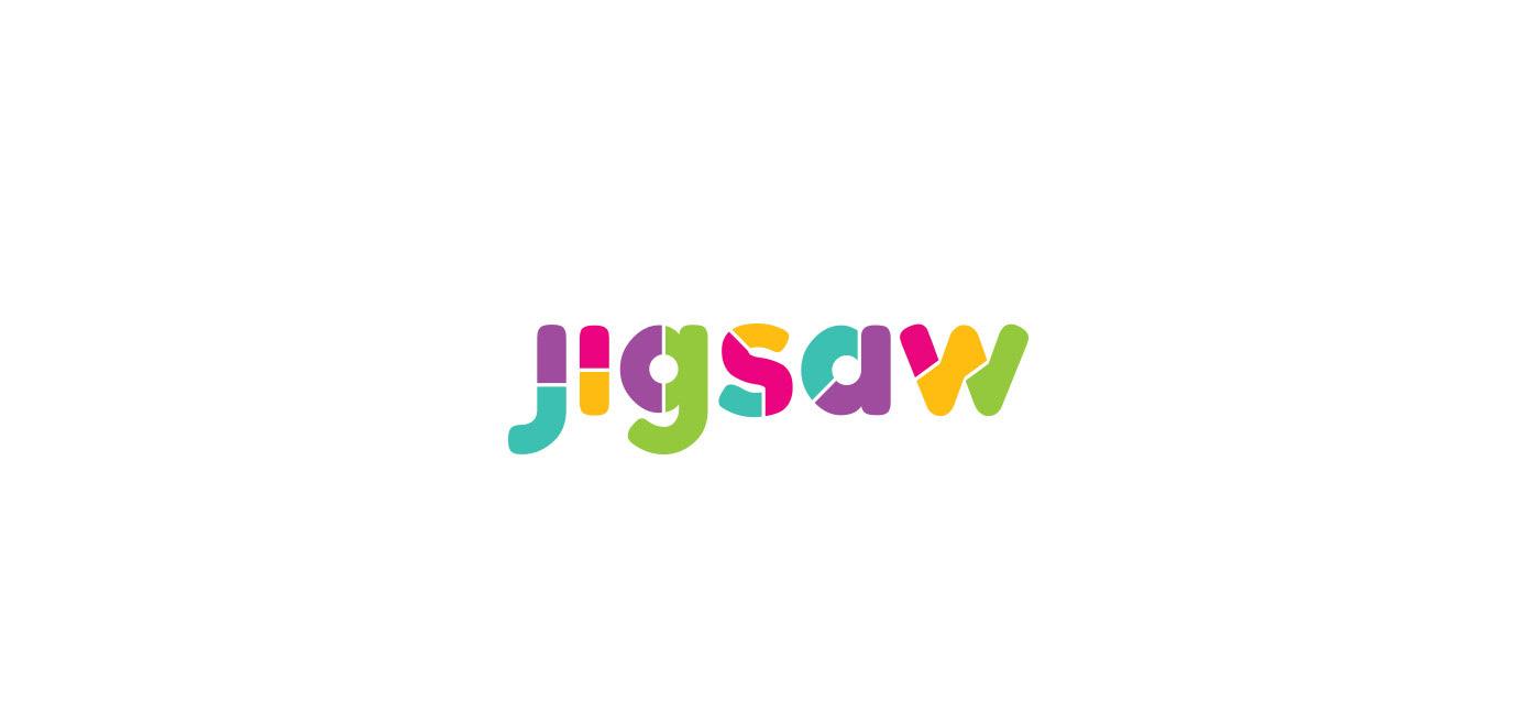 logo branding  Logo Design colourful logo fun logo jigsaw logo