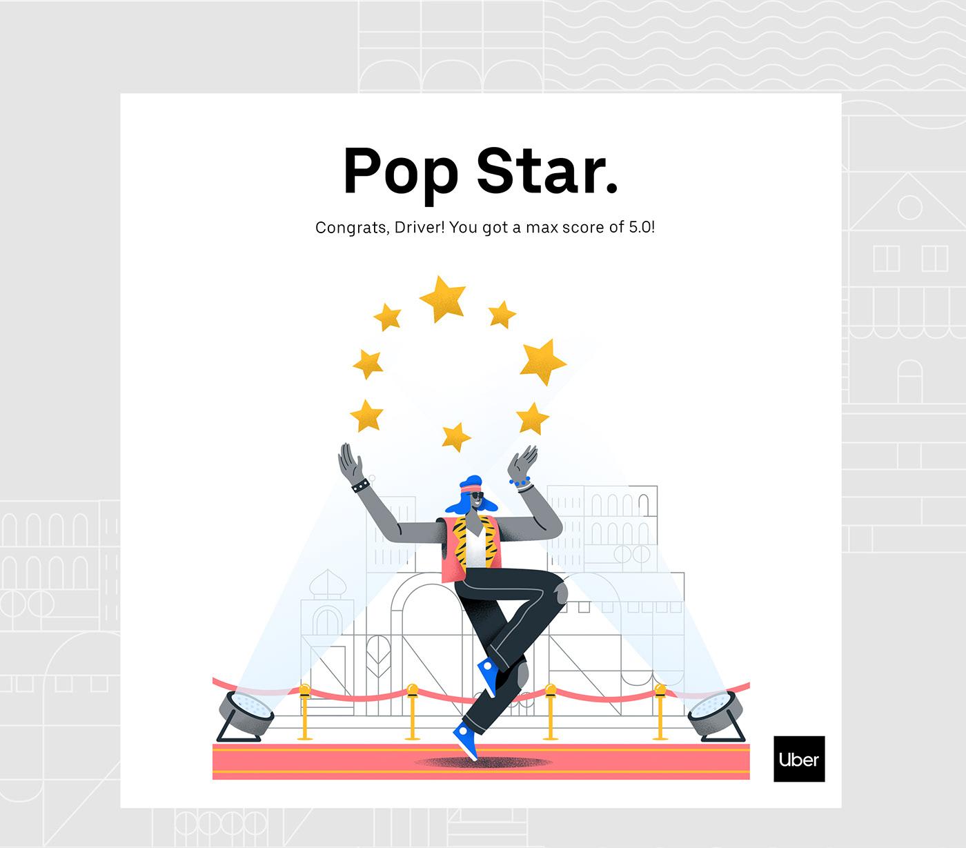Uber design ILLUSTRATION  Character creative inspiration motion Gender brand flat