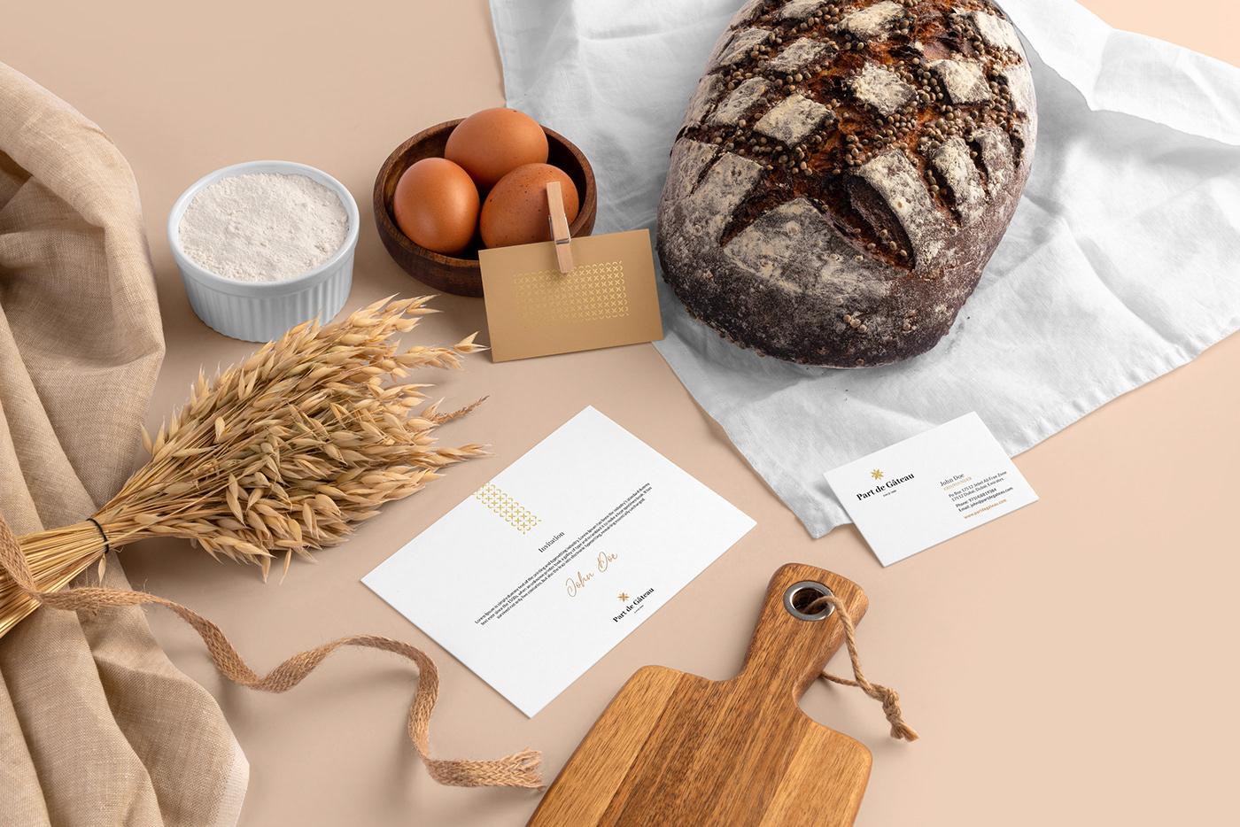 bakery branding  fancy Fashion  logo modern