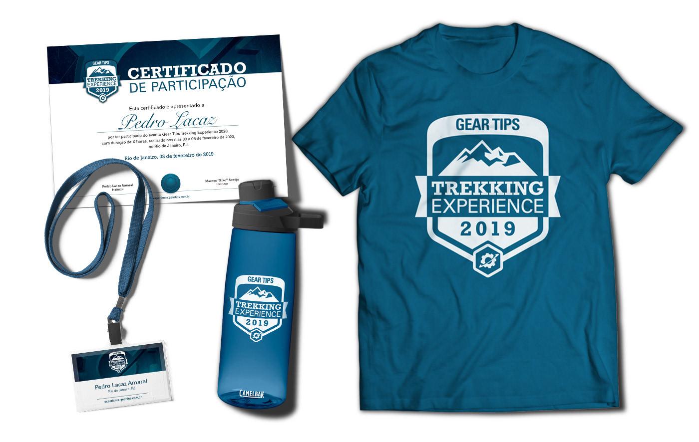 badge bottle branding  Event t-shirt trekking