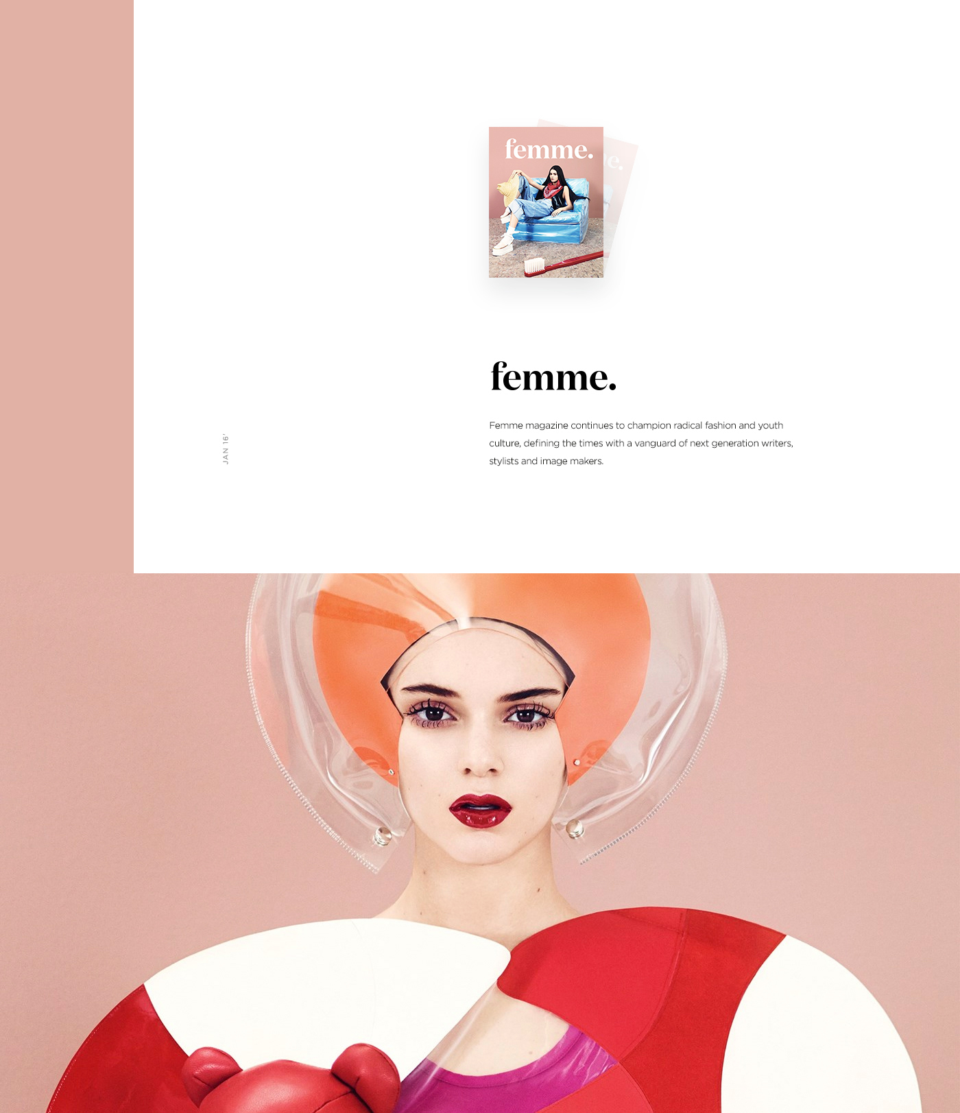 Ecommerce magazine editorial shop article typography   Layout grid Fashion  news
