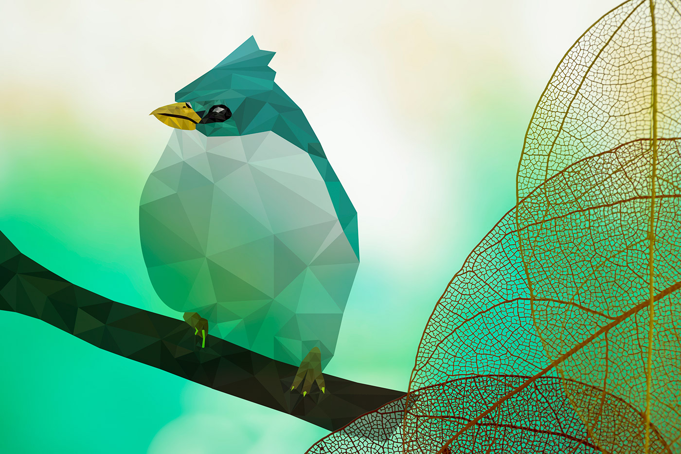 Polygonal Angry bird