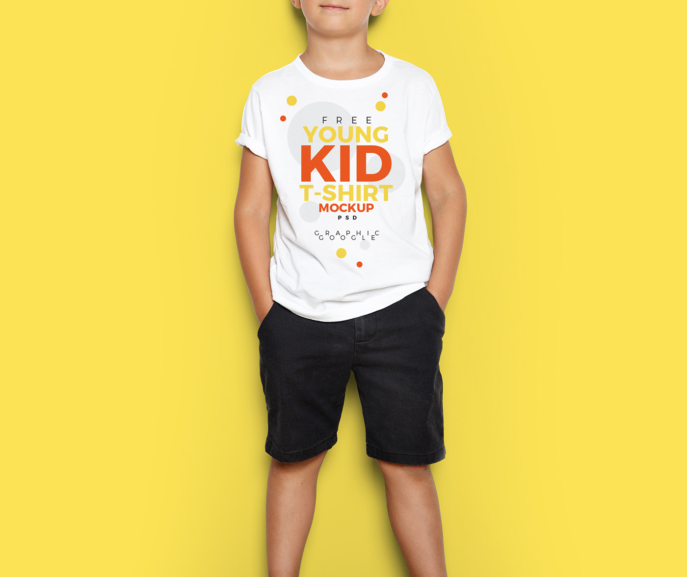 397422ba2 Free Young Kid T-Shirt Mock-Up PSD on Behance