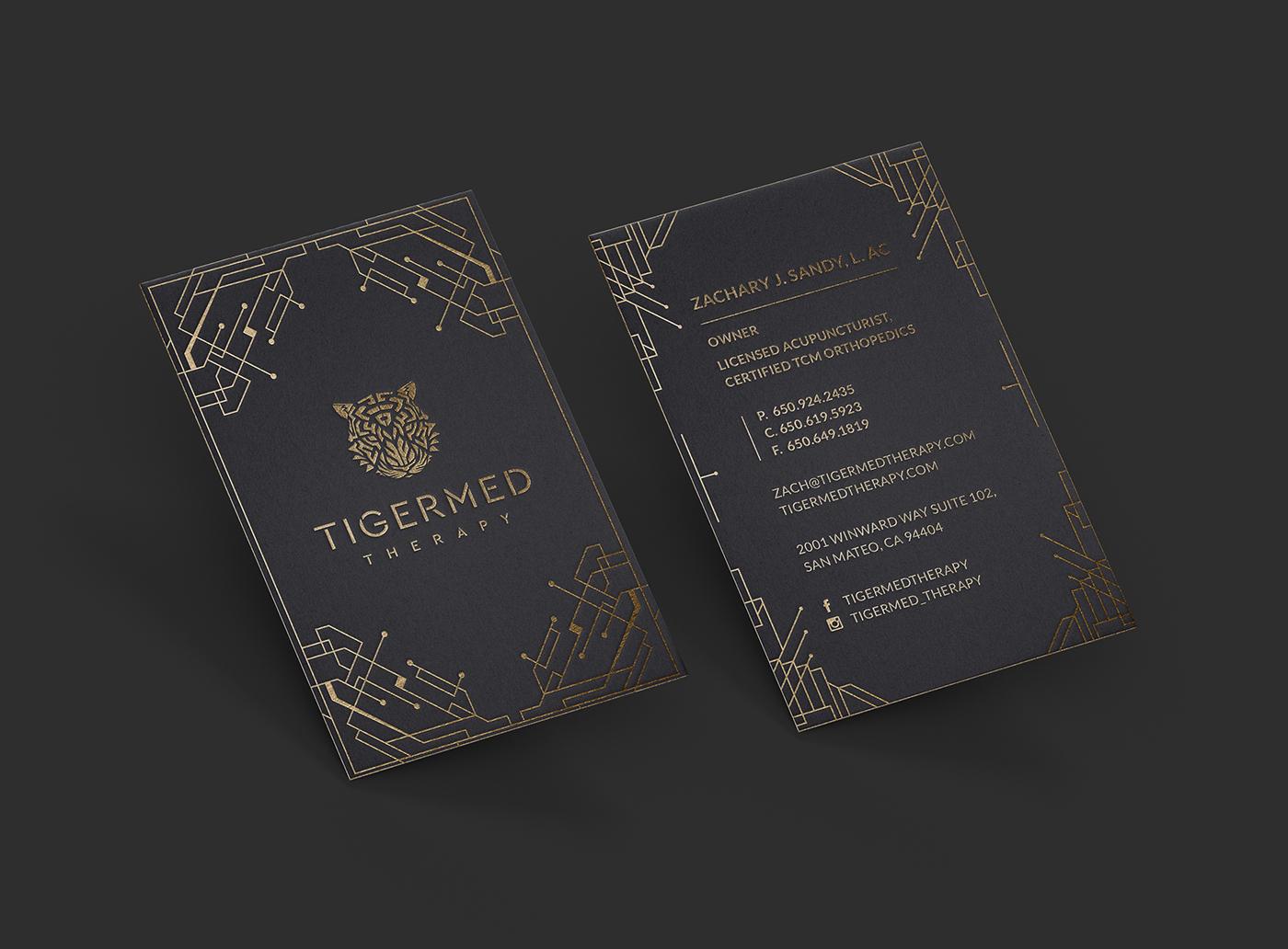 minimalistic business card medicinal