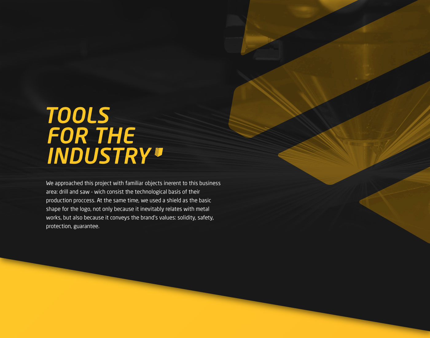 tools itg industry yellow black stationary shield metalwork metal cut SAW drill