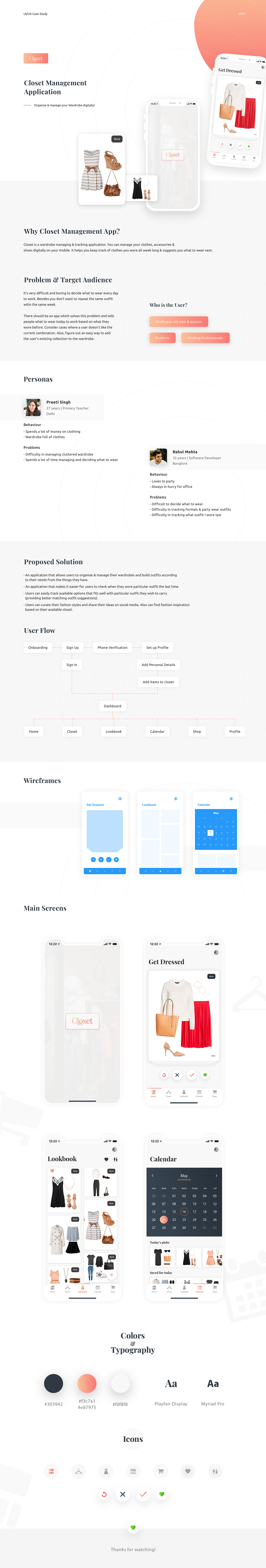 closetapp uiux ui_trends UserExperience Appdesign DailyUI UserInterface wireframing UI ux