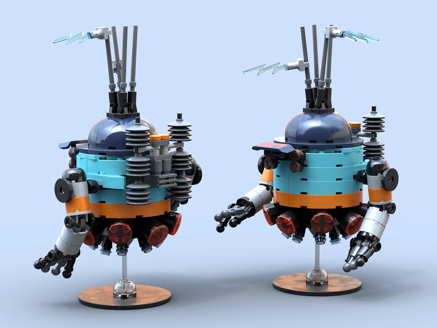 robots STEAMPUNK LEGO toys industrial design  toy design  models spaceship hotrod arcade