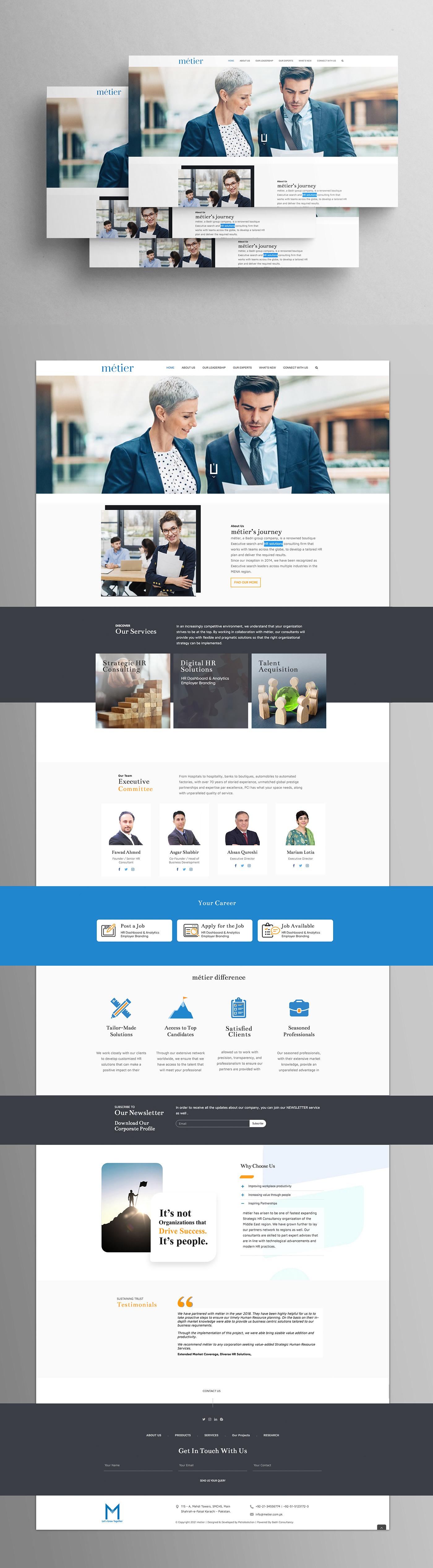 blue theme HR hr solution HR Website nabsgroup UI ux Web web mockup Web UI UX