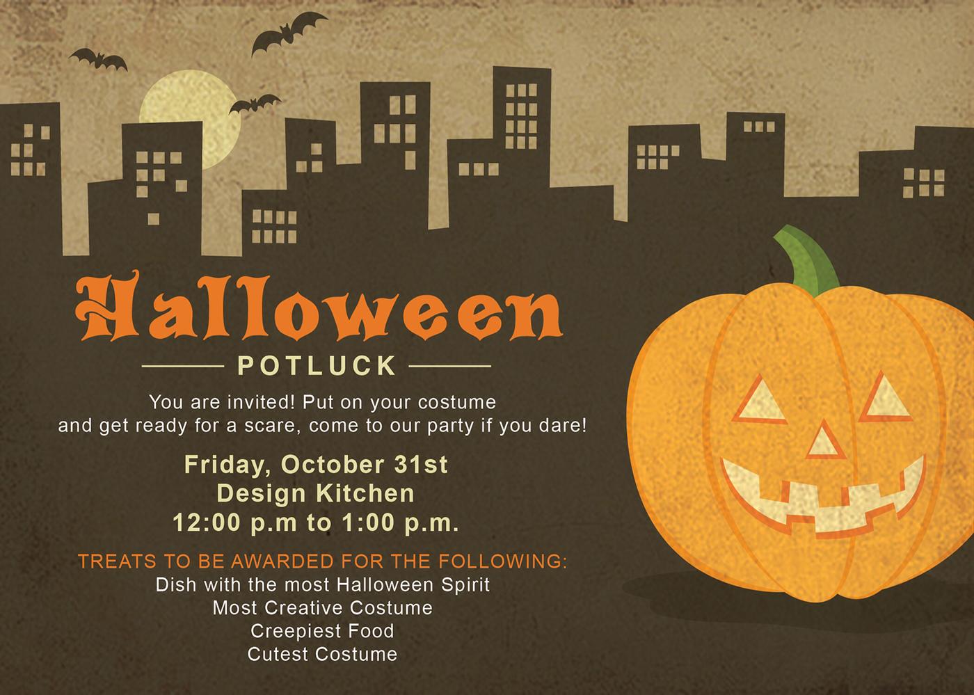 Halloween Potluck Invitation on Behance
