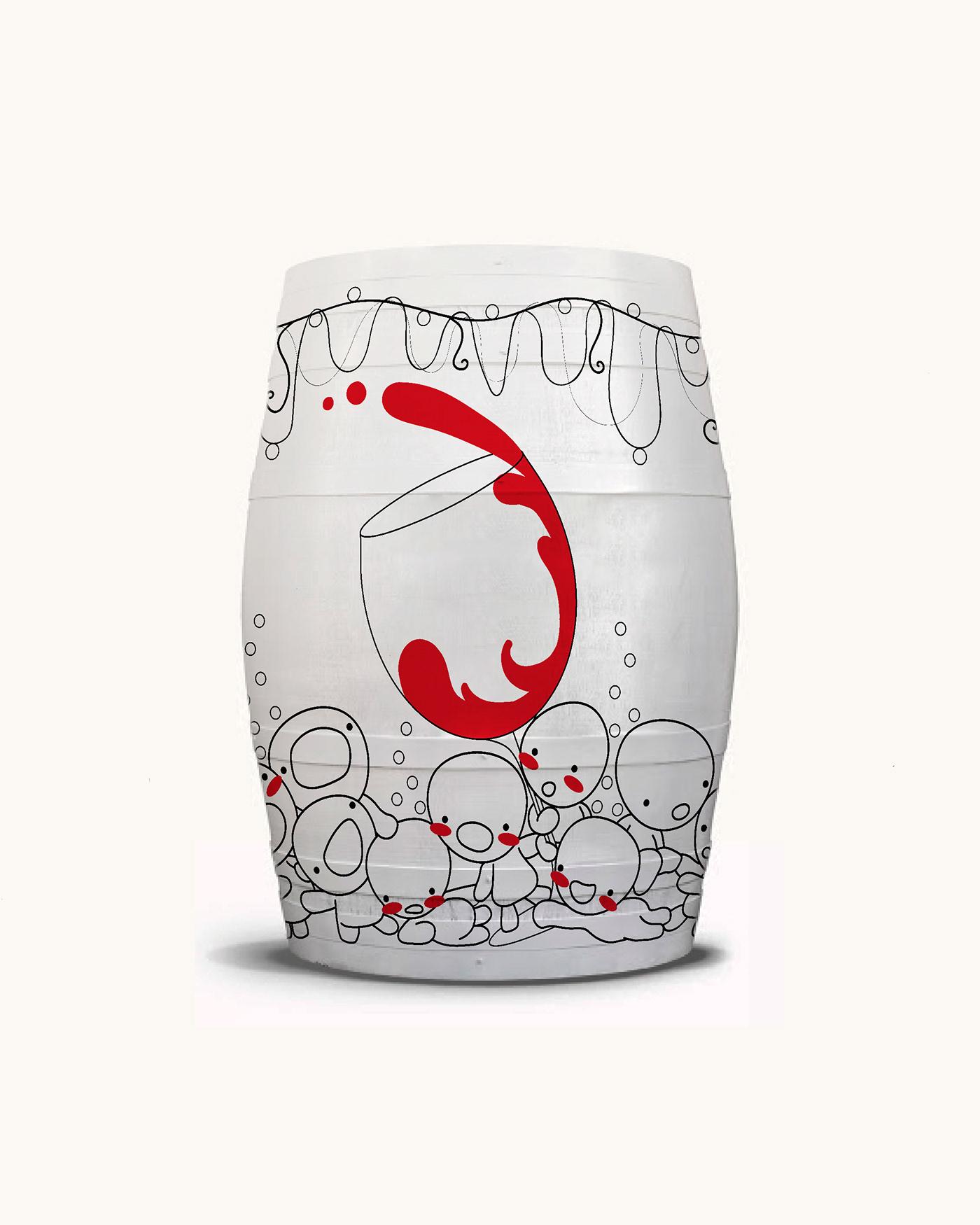 BARRICA Concurso diseño ilustracion vino Digital Art
