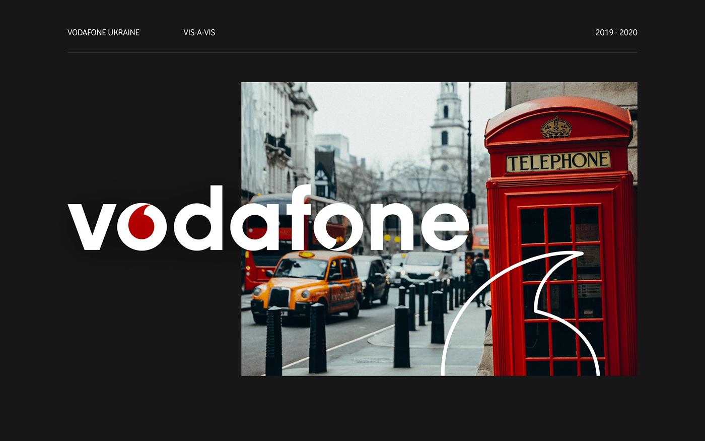 development Interface mobile operator site UI/UX vis-a-vis vodafone web-design