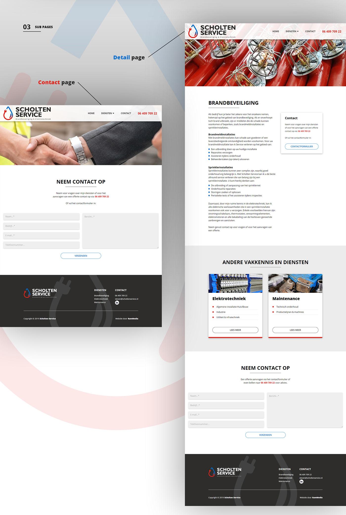 Website Webdesign Webdevelopment design UI ux branding  Electrical Engineering fire protection