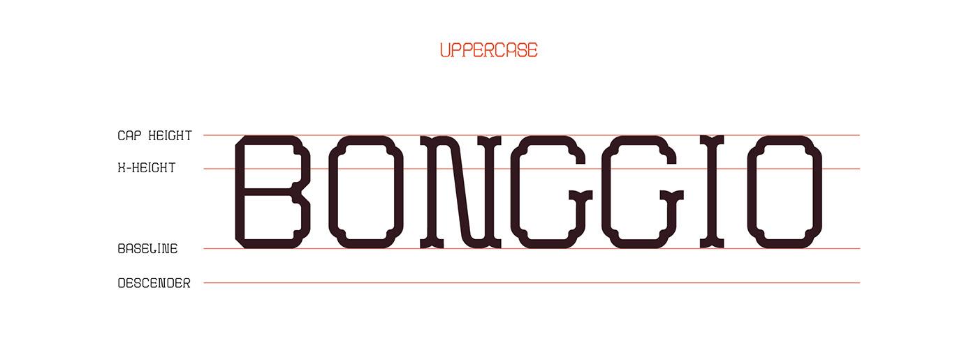 bongio brickpattern Display font saigon serif traditional Typeface vietnam vupham