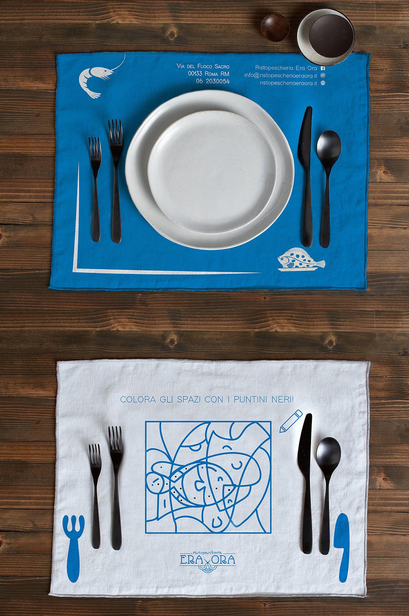 branding  Identità grafica restaurant look feel