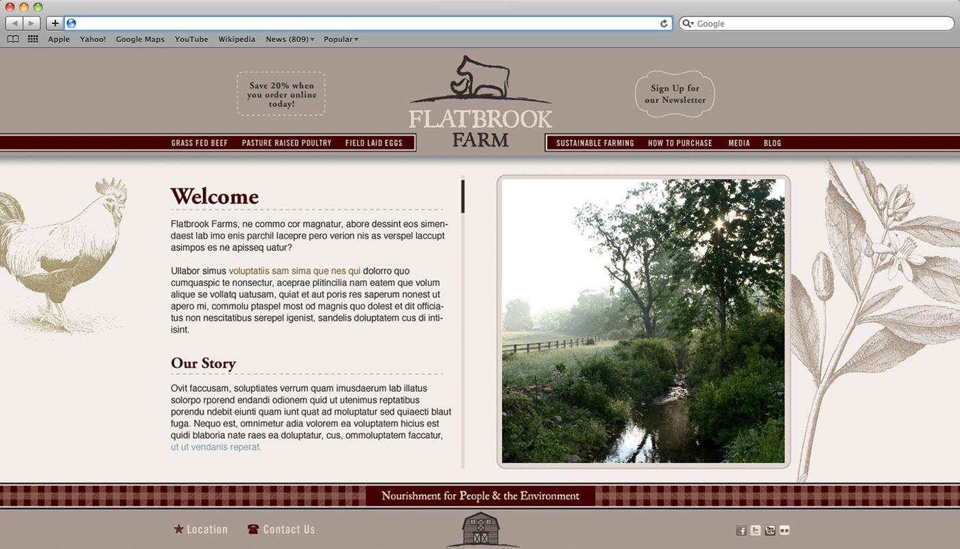 Website design concept for local farm