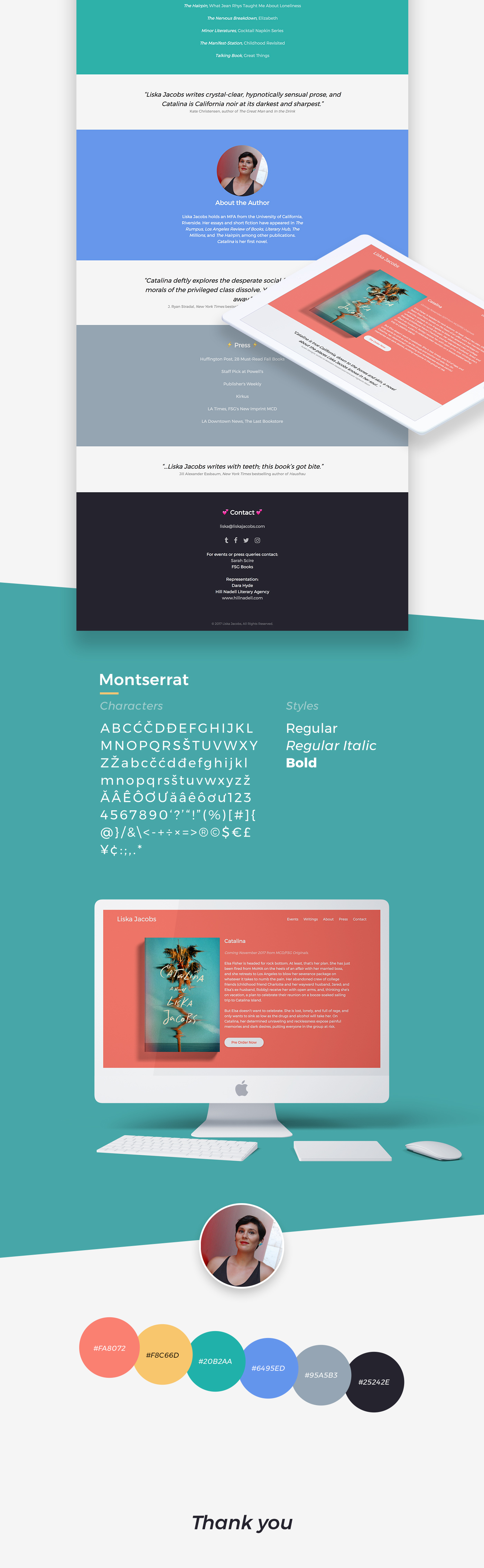 liska jacobs Web Design  Interaction design  UI/UX art direction  authors books literary fiction