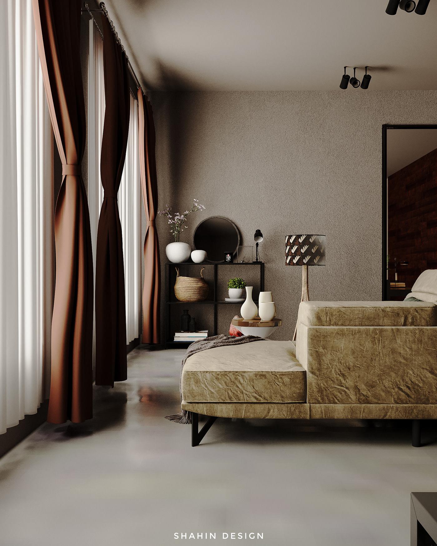 3ds max architect archviz bedroom design cg artist CGI corona render  interior designer modern bedroom visualization