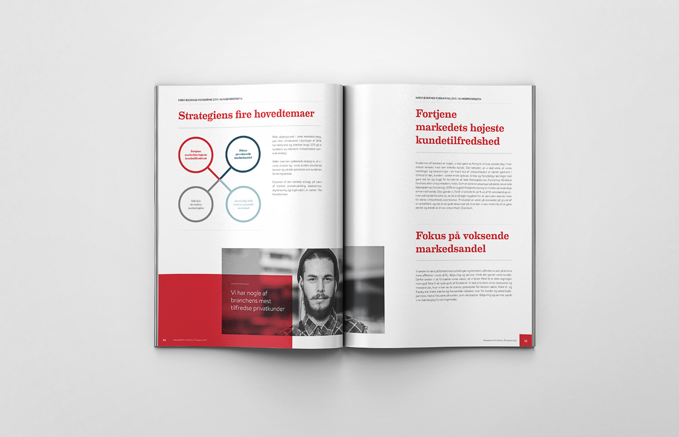 ANNUAL report insurance danish true customer Købstædernes Forsikring Kunder årsrapport
