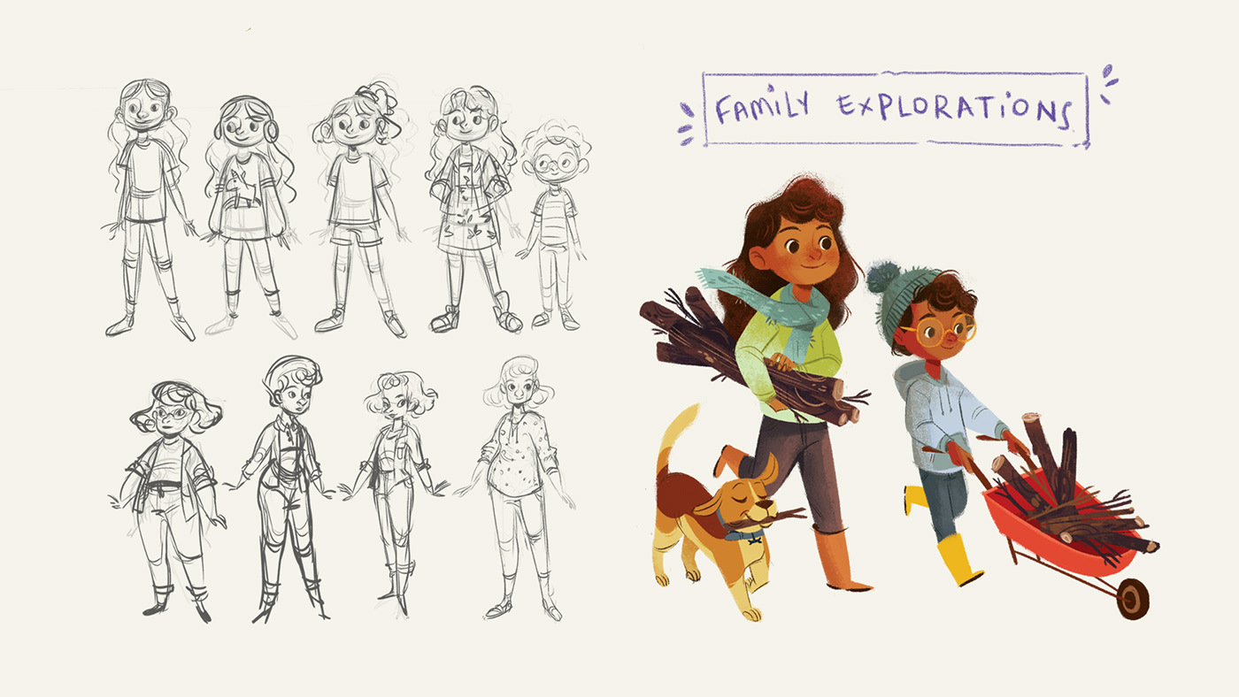 Beatriz beatriz mayumi book Character design  children's book kidlit livro infantil Mayumi Picture book Visual Development
