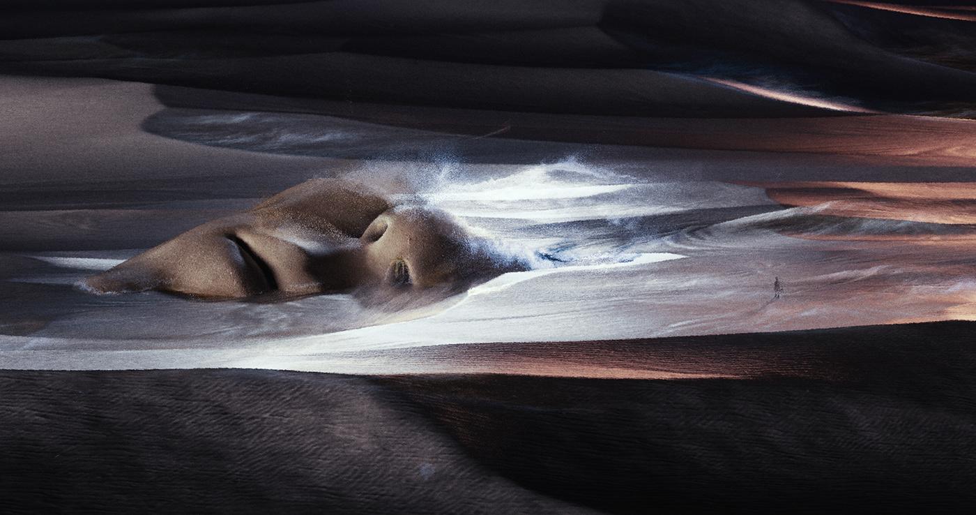 3D cinema4d desert digitalart dune ILLUSTRATION  inspiration Landscape Render scenery
