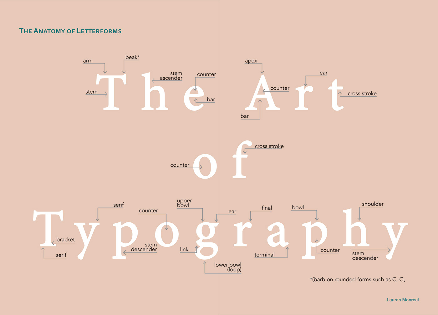 The Anatomy of Letterform on Behance