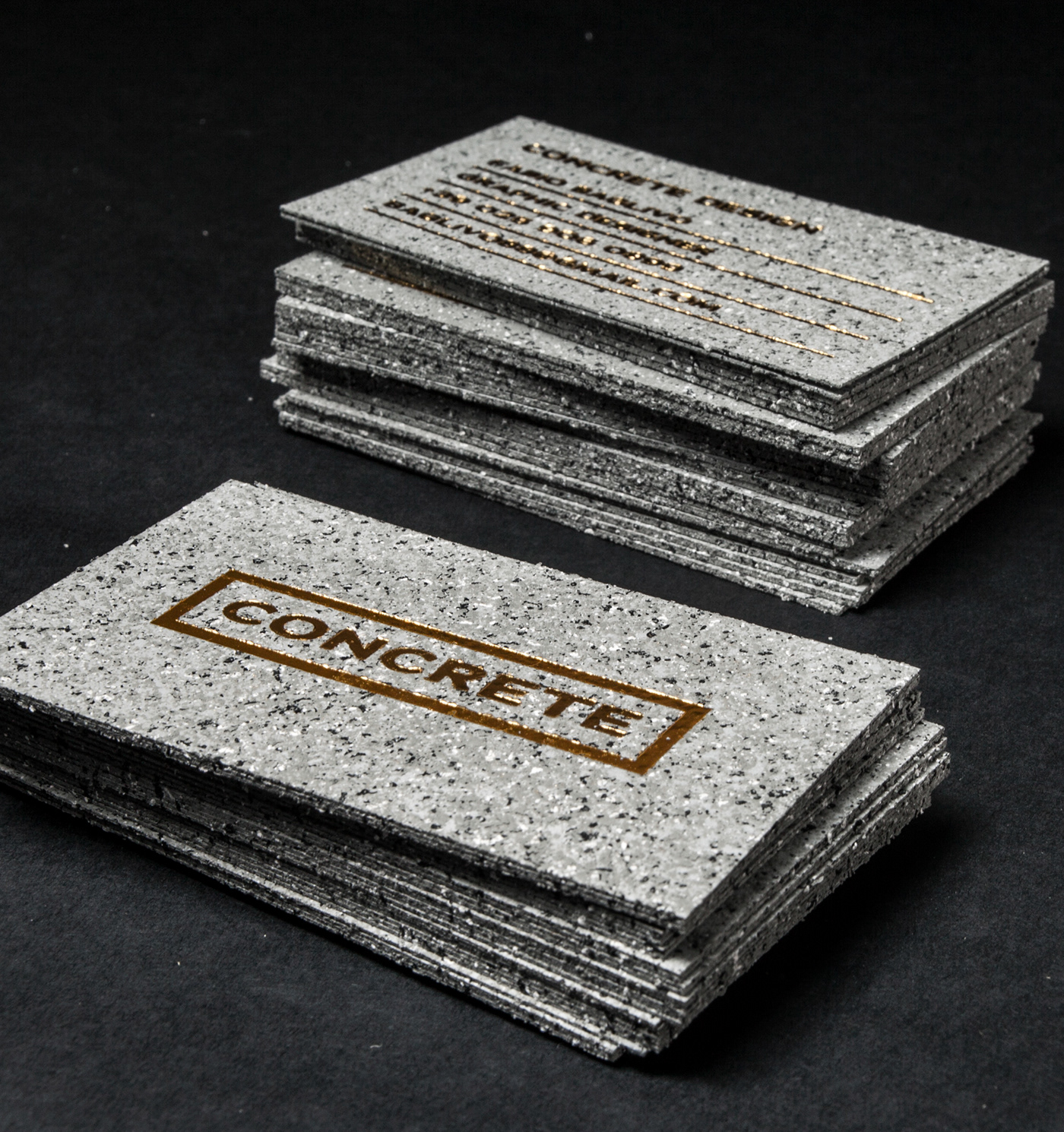 Concrete Business Cards on Behance   Jukebox Print