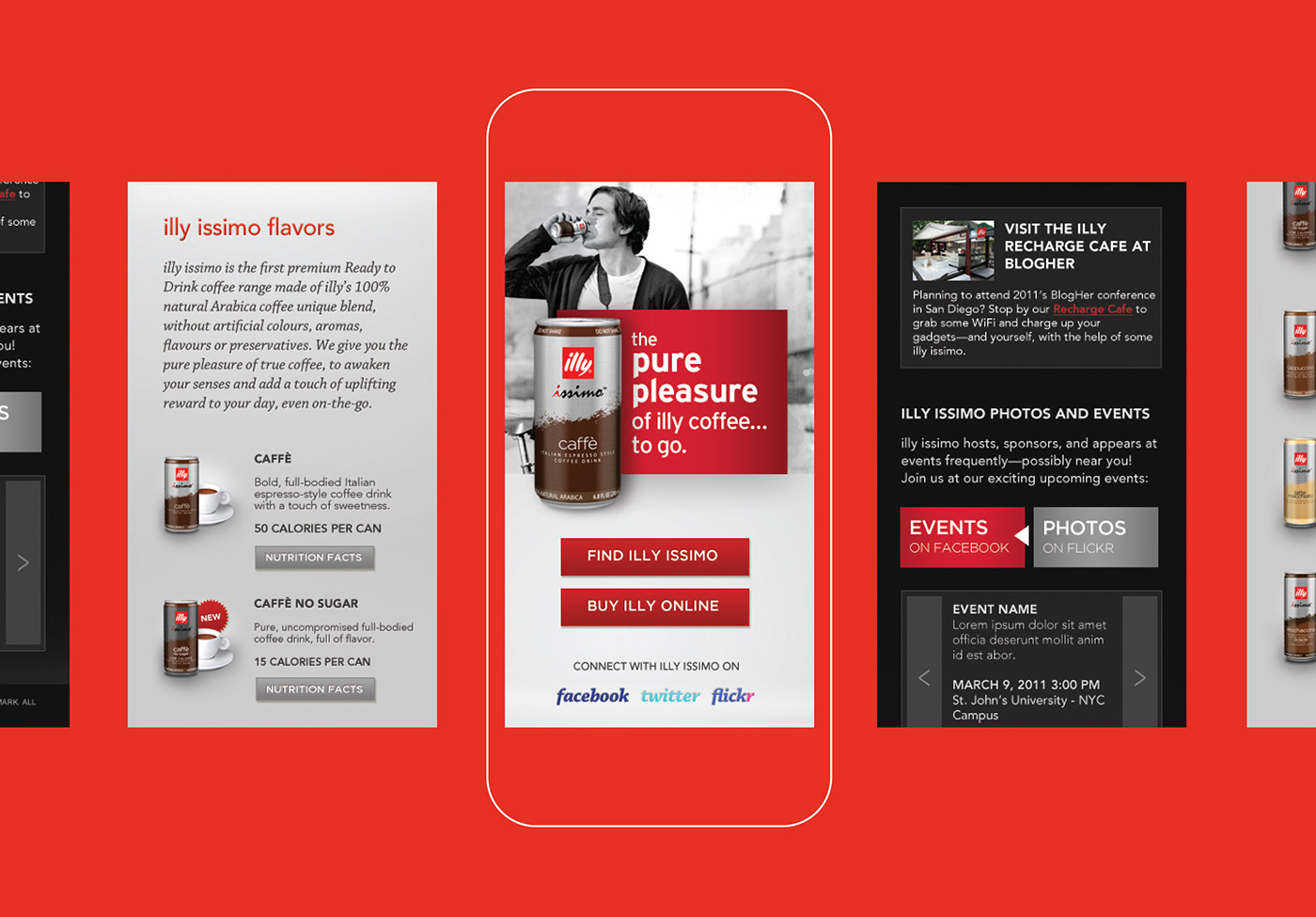 illy issimo Coca-Cola interactive Web Responsive