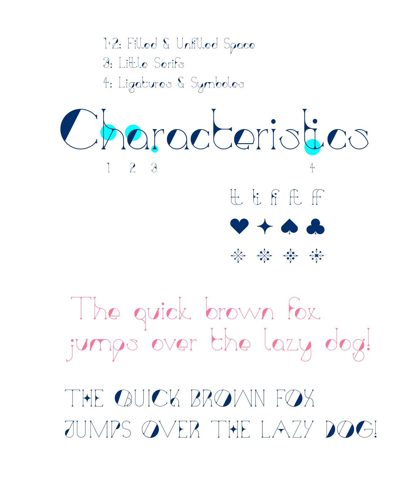 Typeface font decorative Baugasm colorful shapes geometric art elegant poster