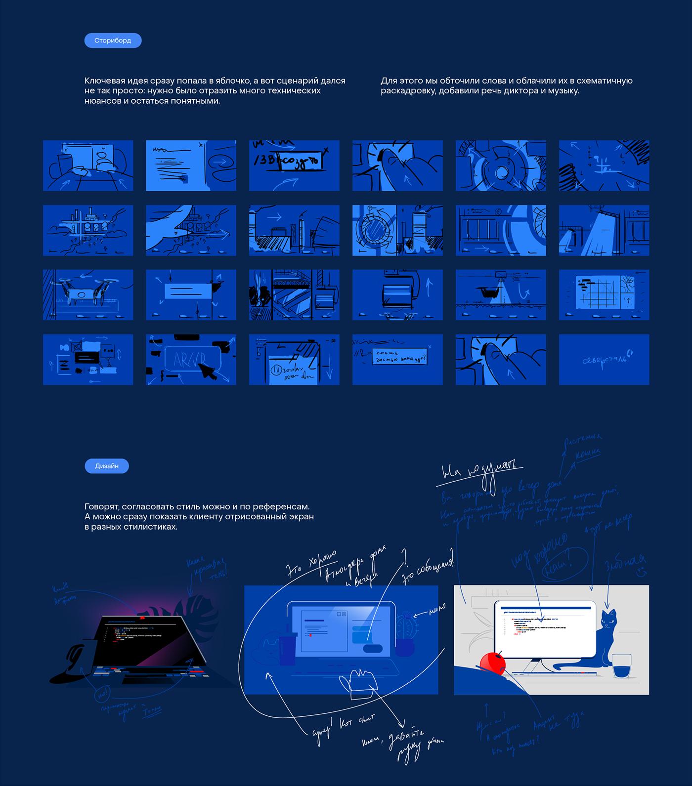 2D animation  explainer factory gif IT motion design Sound Design  steel Technology