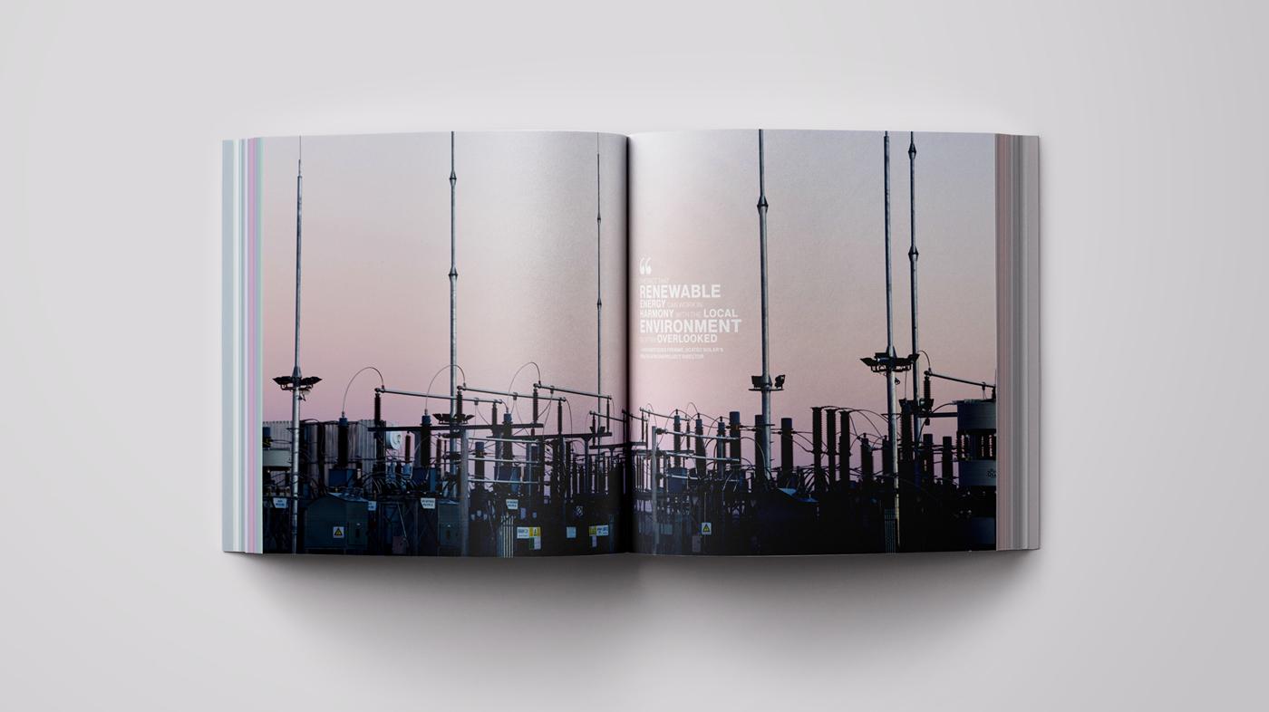 book design publication COFFEE TABLE BOOK Solar energy Layout ANNUAL book publication design publishing   square book