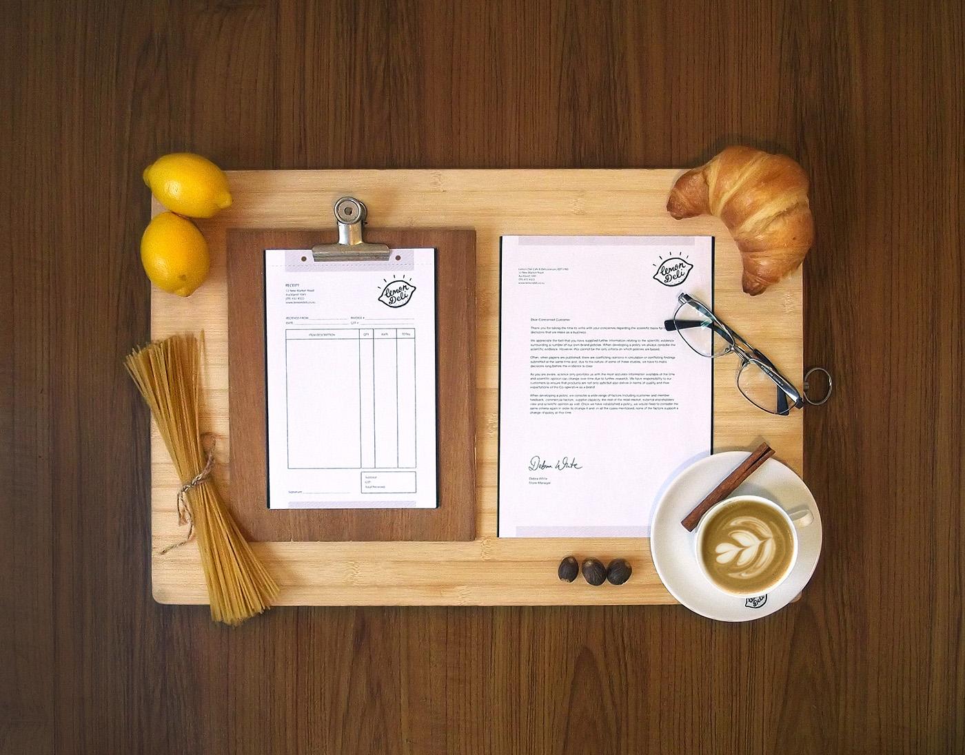 lettering brand deli delicatessen cafe vintage rustic labelling labels lemonade productdesign brand identity Retro package design  FMCG