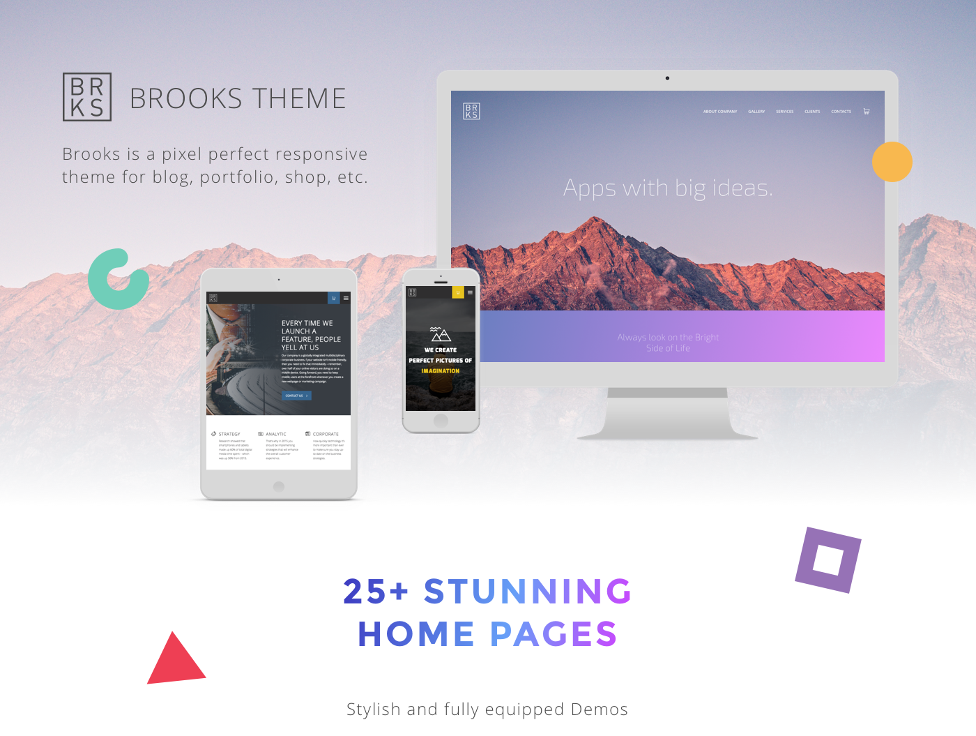 UI ux UI/UX Web interaction design flat parallax font Theme