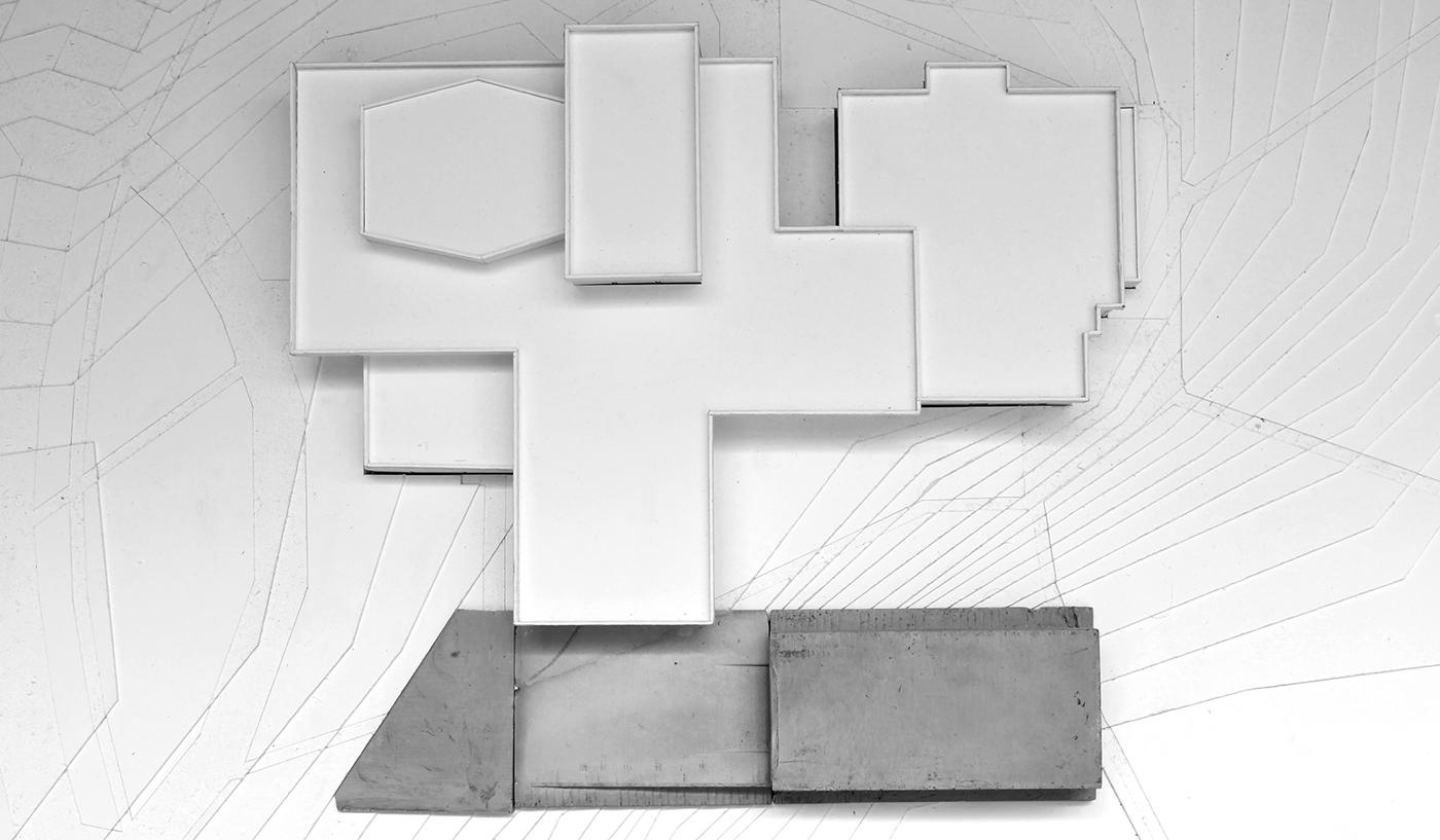 architecture graduate Fine Arts  Black box studio renovation addition rendering section Plan
